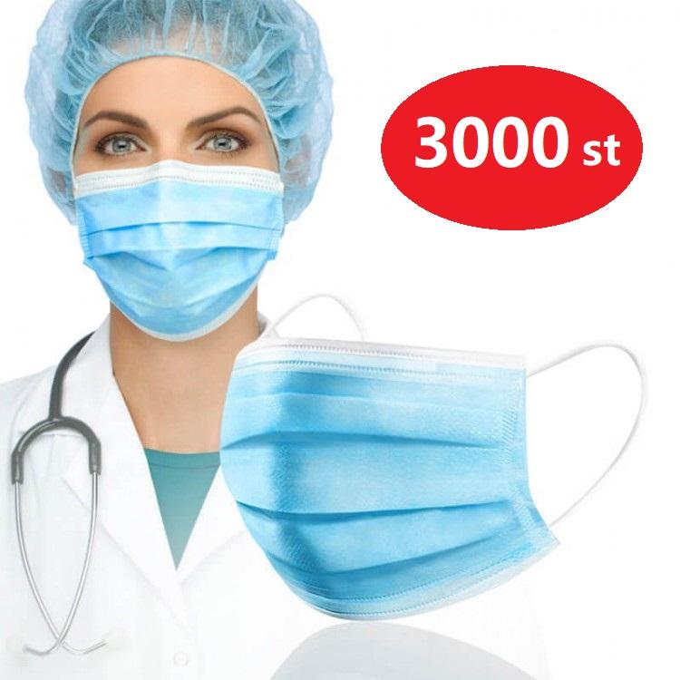 3000 st | 60 boxes | Kirurgiskt Munskydd | Typ IIR 50-pack | Påsk | 3-lager | BFE >98% | Bäst för företag