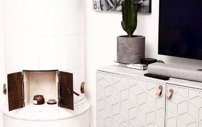 Elli mönster på Ikea Bestå skåp