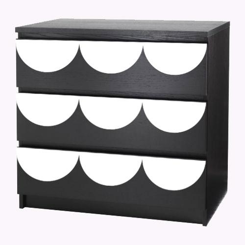 Louise - möbeldekor till Malm byrå (beställningsvara)