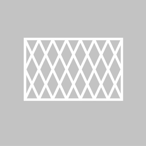 Madelene - möbeldekor till Bestå skåpdörr 60 x 38 cm