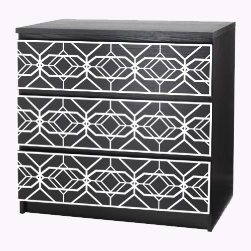 Aleks - furniture decor for IKEA Malm dresser (produced on order)