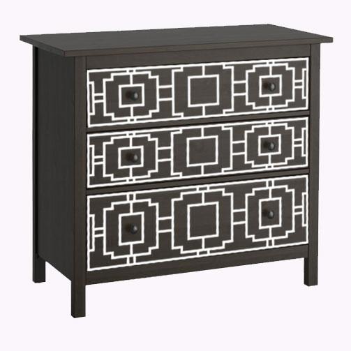 Livia - möbeldekor till Hemnes byrå (flera varianter)