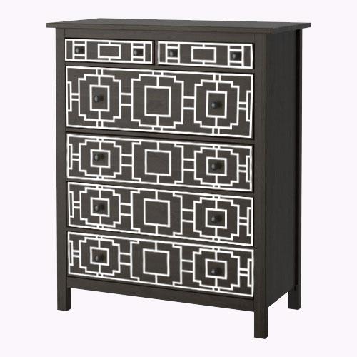 Livia - möbeldekor till Hemnes byrå (beställningsvara)