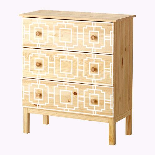 Livia - möbeldekor till Tarva byrå (beställningsvara)