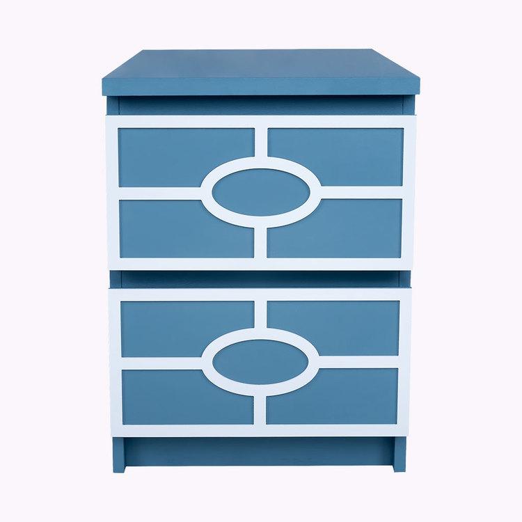 Caroline - möbeldekor till Malm sängbord