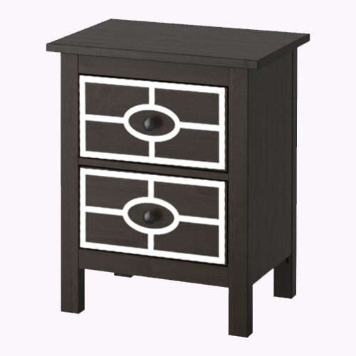 Caroline - furniture decor for IKEA Hemnes chest of 2 drawers