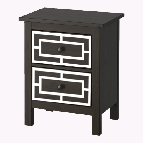 Emil - furniture decor for IKEA Hemnes chest of 2 drawers