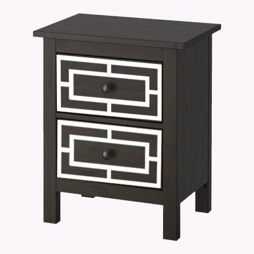 Emil - möbeldekor till Hemnes sängbord