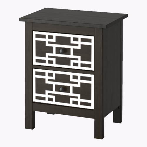 Sara - furniture decor for IKEA Hemnes chest of 2 drawers