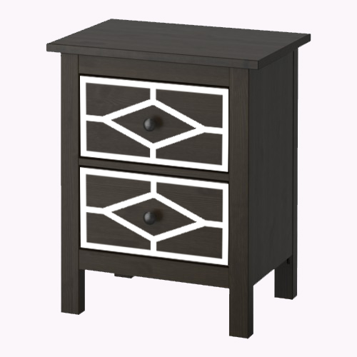 Nahal - furniture decor for IKEA Hemnes chest of 2 drawers