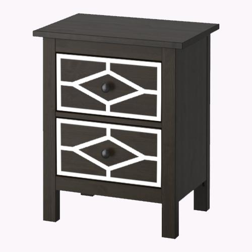Nahal - möbeldekor till Hemnes sängbord