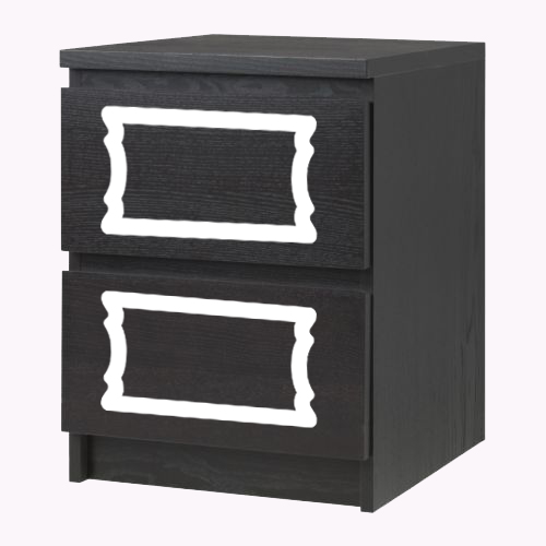 Nathalie - single furniture decor for Malm dresser