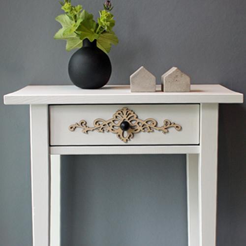 Victoria – möbeldekor till avlastningsbordet Hemnes