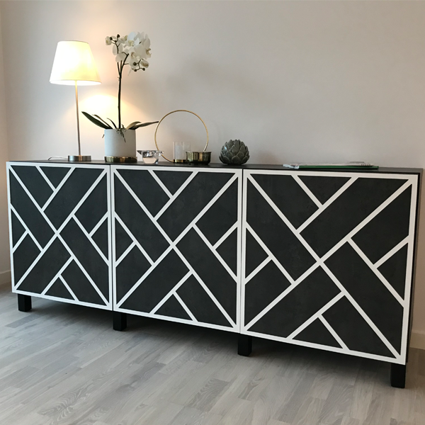 Maja - möbeldekor till Bestå skåpdörr 60 x 64 cm (beställningsvara)