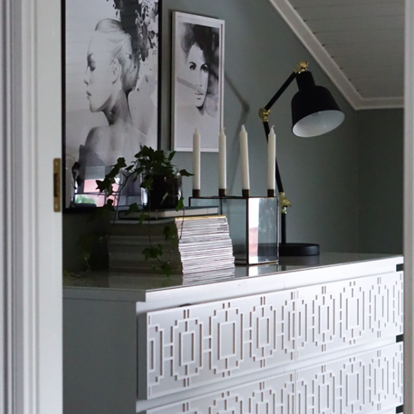Livia - möbeldekor till Malm byrå (beställningsvara)