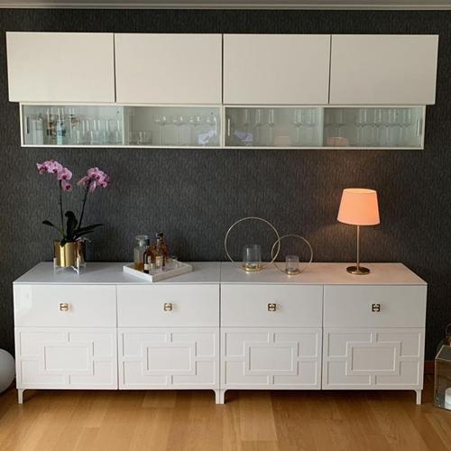 Engla - möbeldekor till Bestå skåpdörr 60 x 38 cm (beställningsvara)