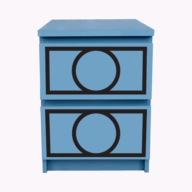Hanna - möbeldekor till Malm sängbord (beställningsvara)