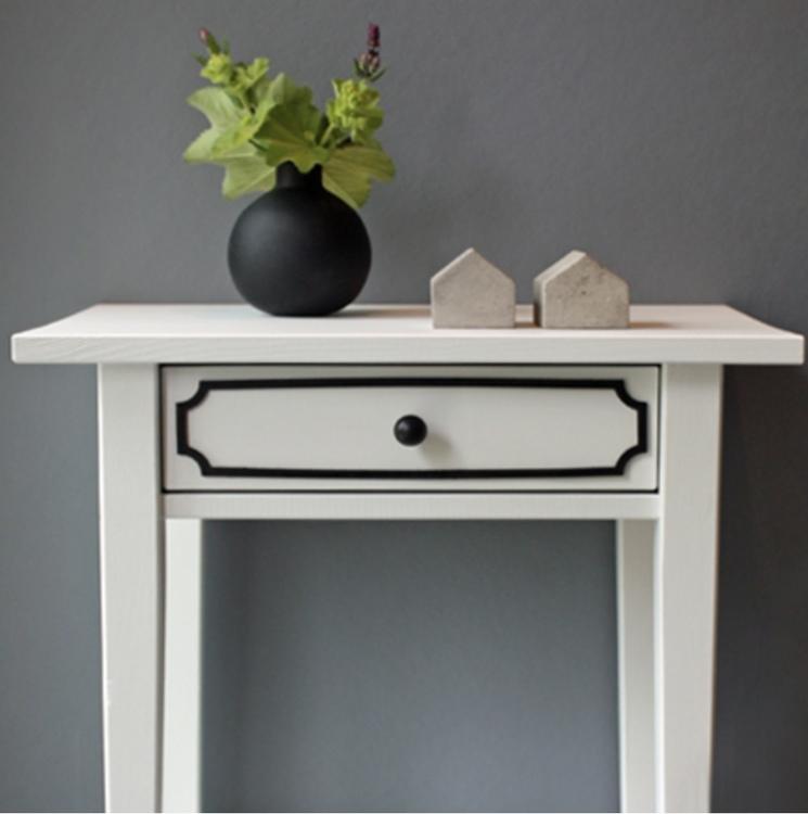 Magdalena – möbeldekor till avlastningsbordet Hemnes