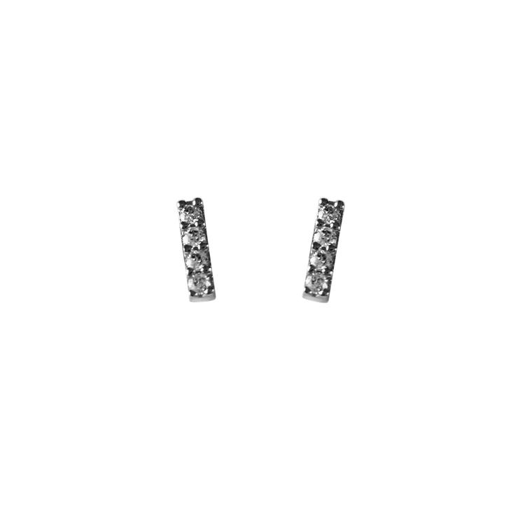 Vitguldsörhängen med cz-stenar i 18K