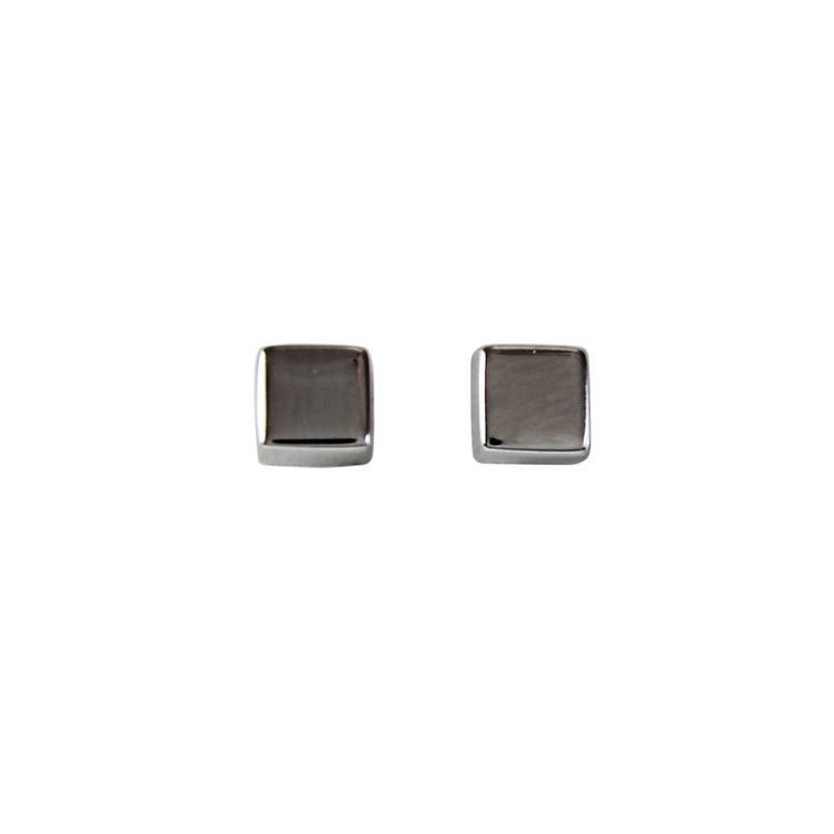 Vitguldörhängen i 18K - 3,5mm
