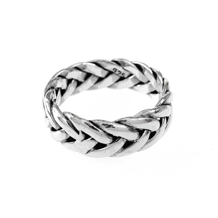 Ring Fishbone Oxidized Silver
