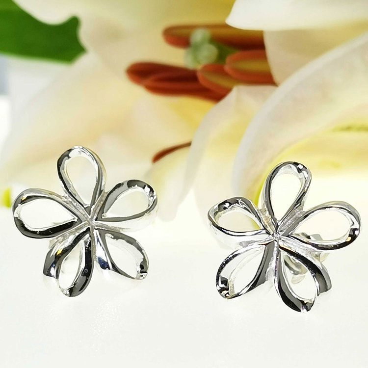 Snygga örhängen silver FLOWER från Catwalk Jewellery