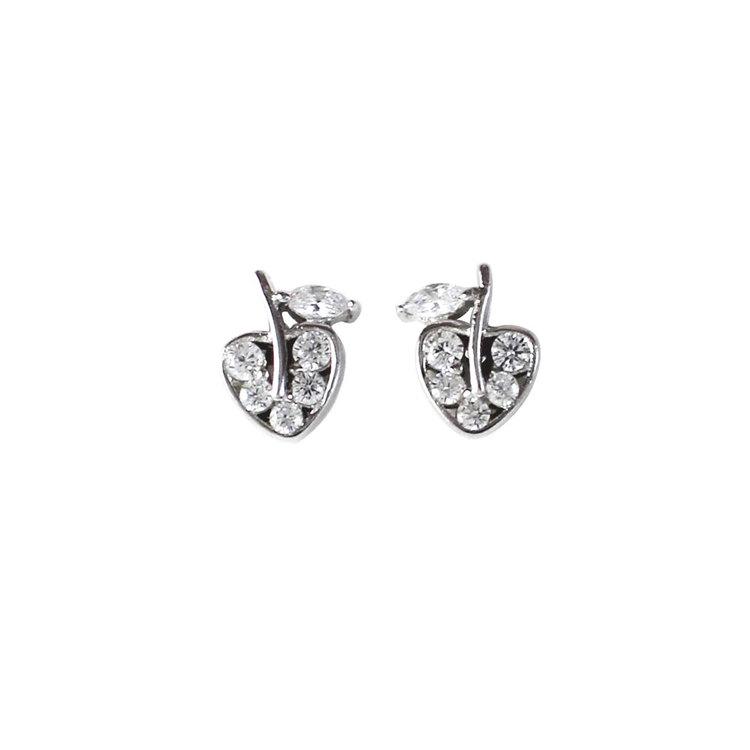 Söta silverörhängen Sparkling Apple från Catwalk Jewellery