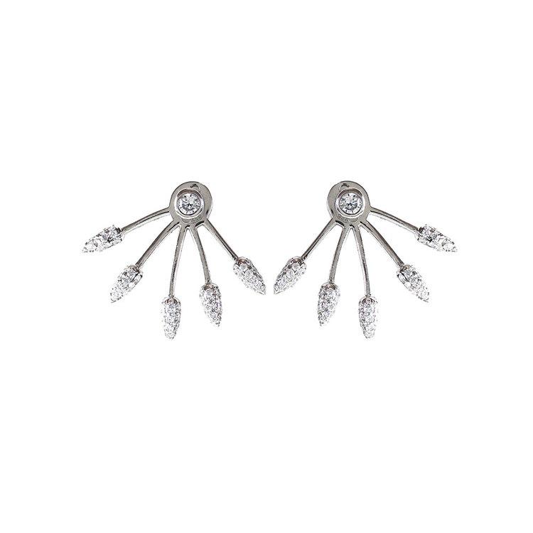 Snygga silverörhängen med cz-stenar Sparkling Lines från Catwalk Jewellery