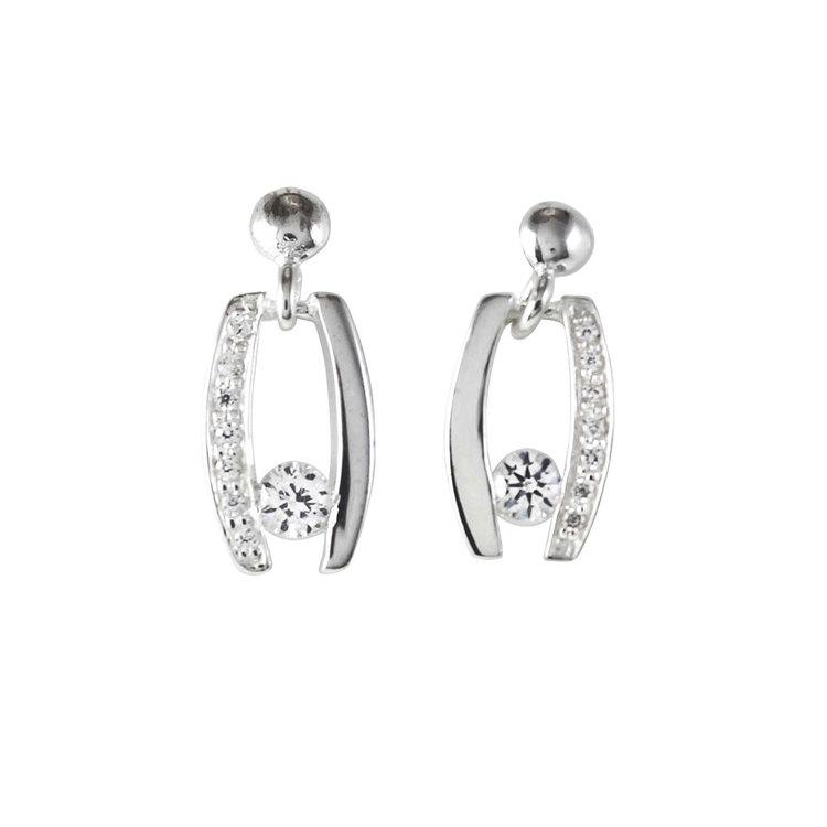Snygga silverörhängen med cz-stenar Freja från Catwalk Jewellery