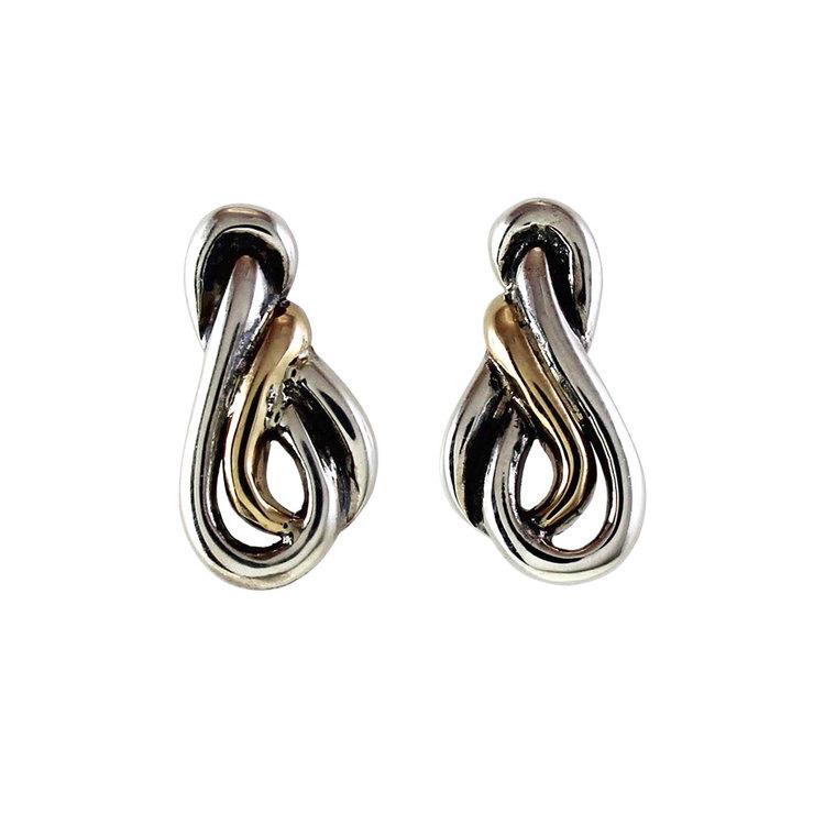 snygga örhängen i oxiderat silver DEWI från Catwalk Jewellery