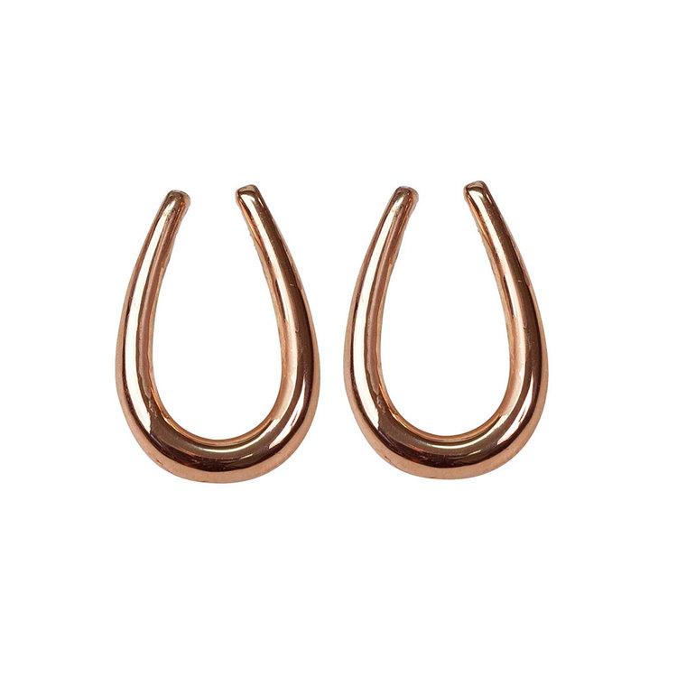 Snygga örhängen i róseförgyllt silver UNIQUE från Catwalk Jewellery