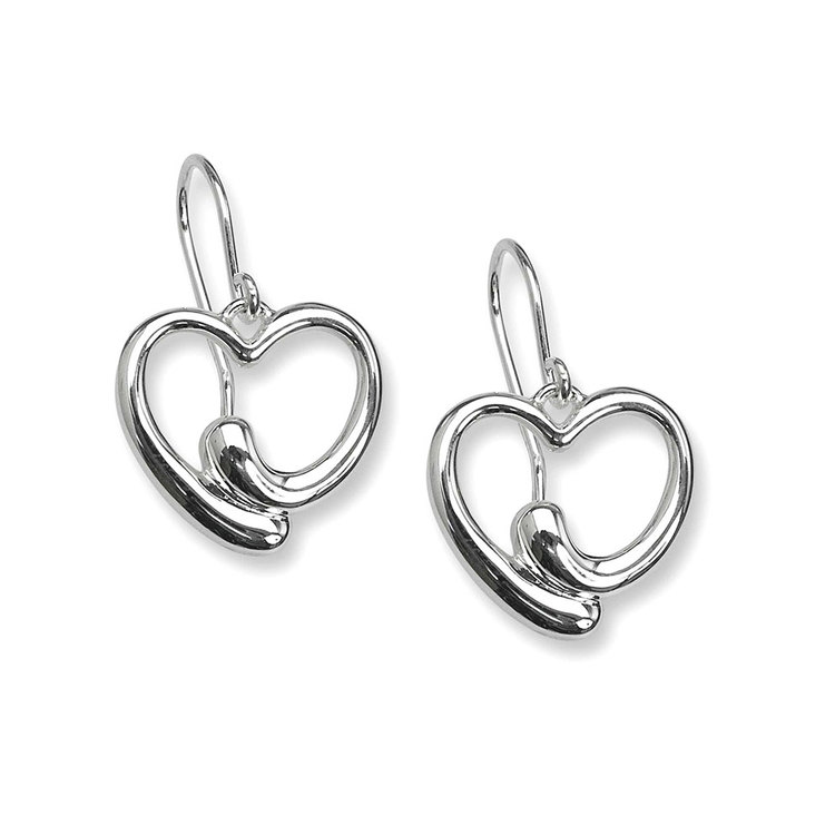 Örhängen Heart i 925 silver