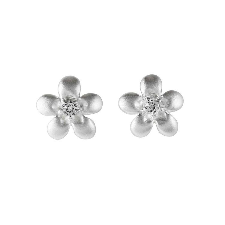 Örhängen [FLOWER] med cz-sten i 925 silver