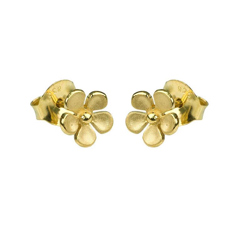 Örhängen [FLOWER] guldpläterad i 925 silver