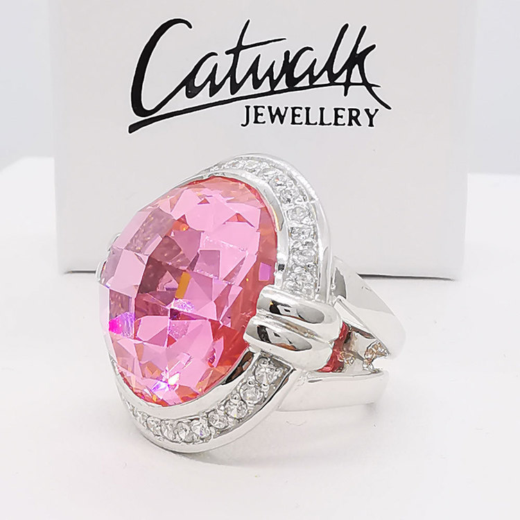 Ring Pink Sparkling Silver