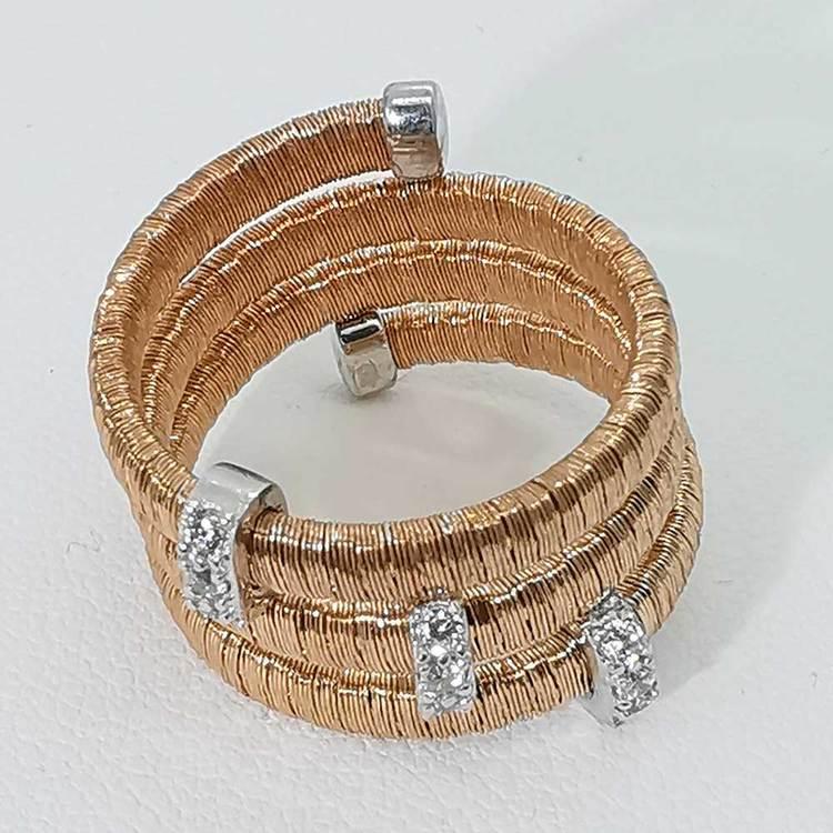 cool ring i roseförgyllt silver Aurora från Catwalk Jewellery