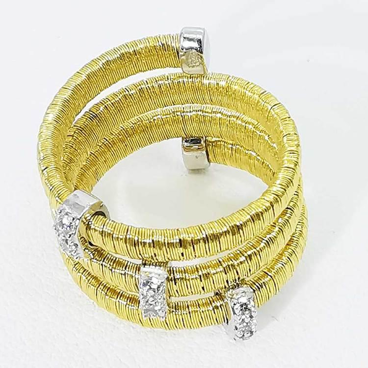 cool ring i förgyllt silver AURORA från Catwalk Jewellery