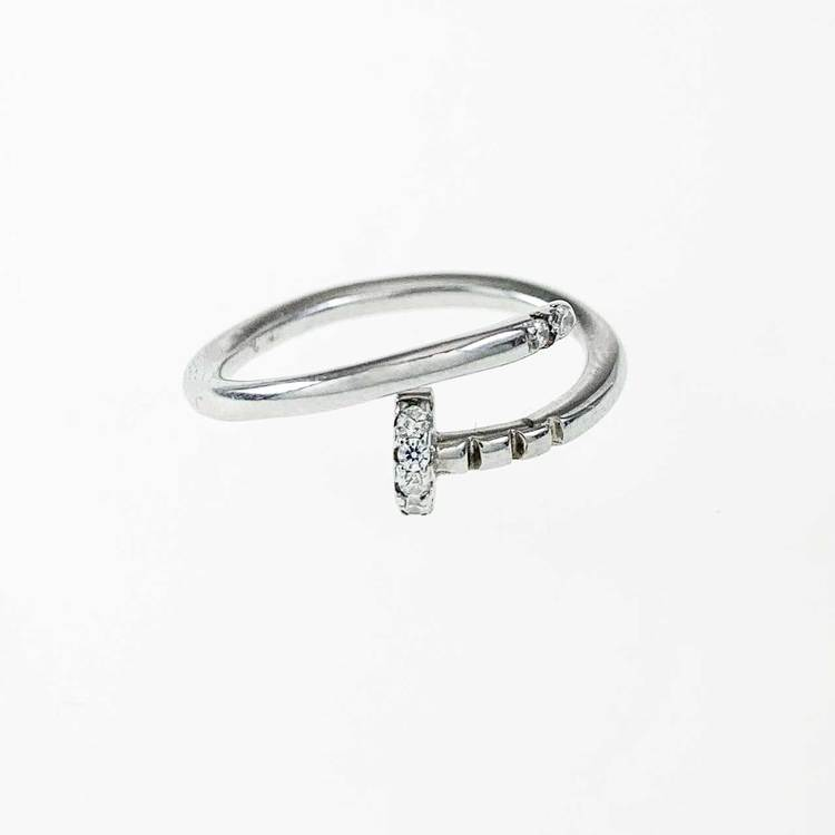 Ring Spike Sparkling Silver