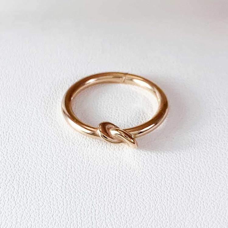 Ring [Knot] i 925 roséförgyllt sterlingsilver