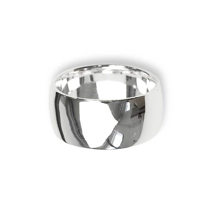 Kupad ring i 925 silver - 10mm