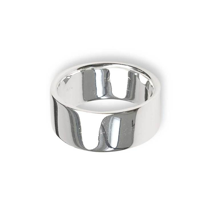 Flack ring i 925 silver - 10mm