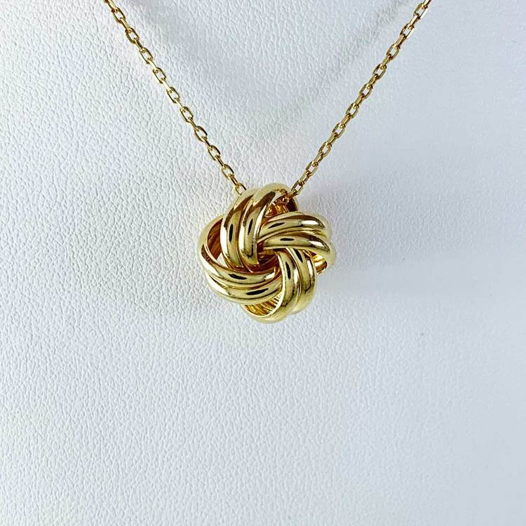 NECKLACE KNOT GOLDPLATED SILVER