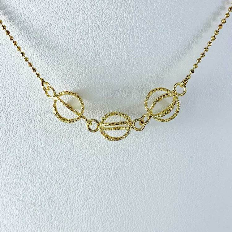 GLOBE NECKLACE GOLDPLATED SILVER