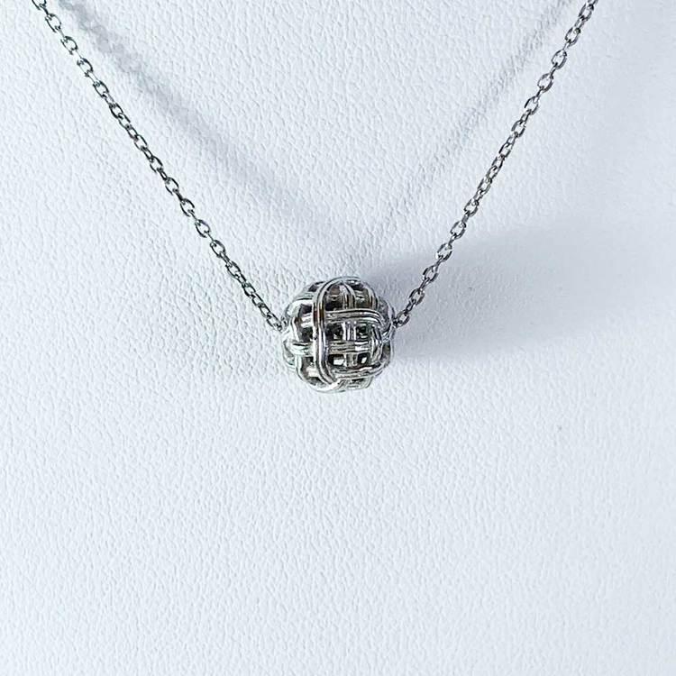 Halsband Ball Silver