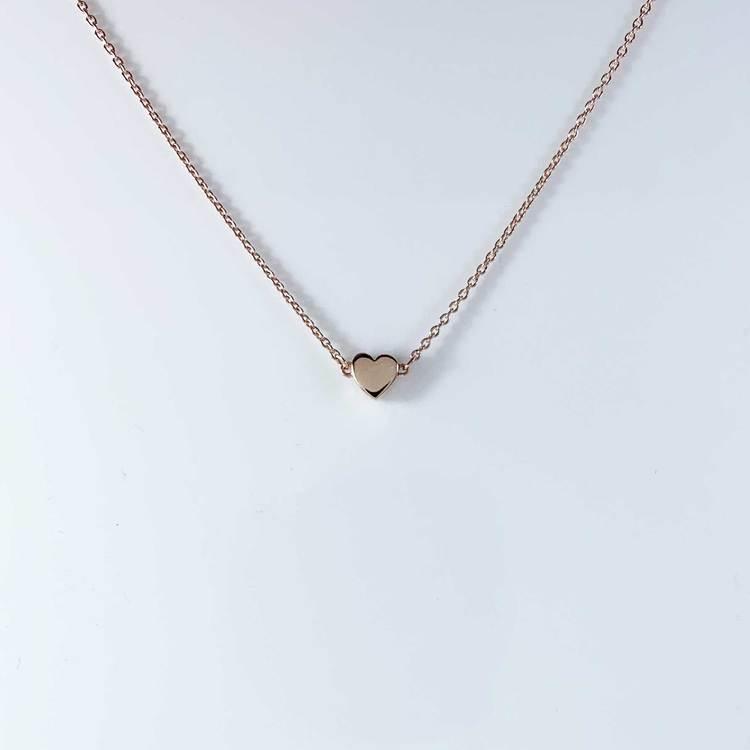 Halsband [HEART] i roséförgyllt 925 silver