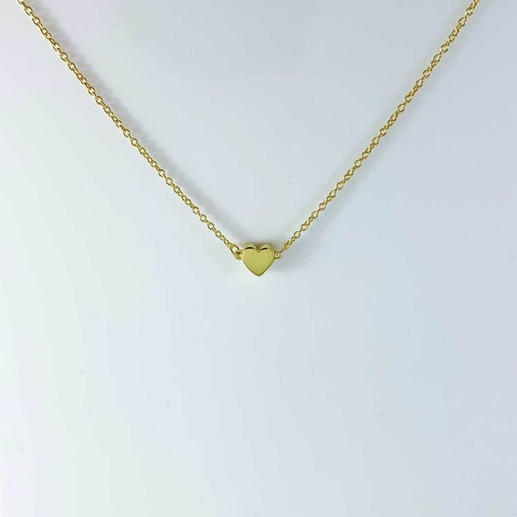 Halsband [HEART] i förgyllt 925 silver