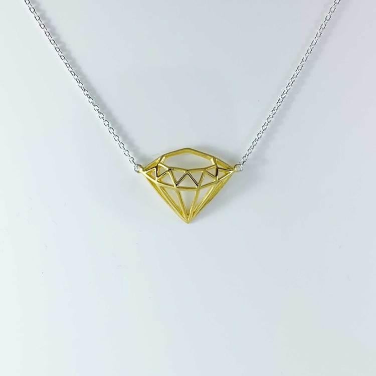 snyggt halsband i förgyllt silver diamond från Catwalk Jewellery
