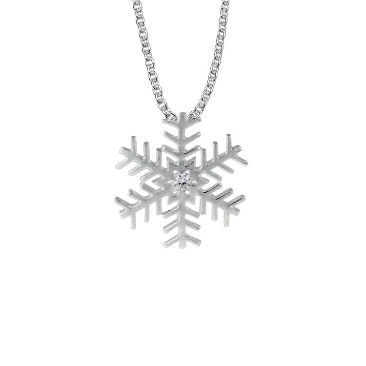 NECKLACE SNOWFLAKE SILVER