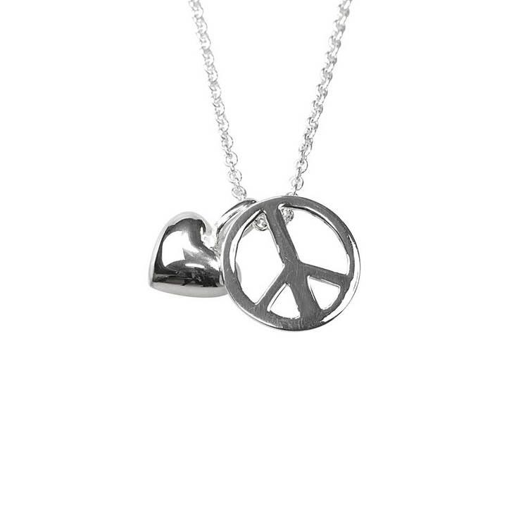 Halsband [PEACE & LOVE] i 925 silver