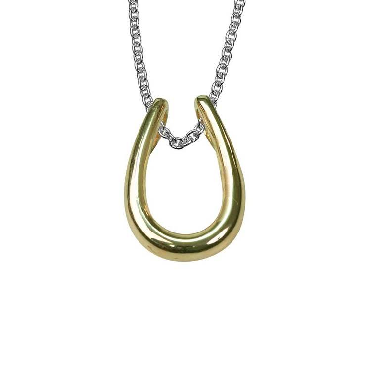 Halsband med 9 karats gulddetaljer i 925 silver